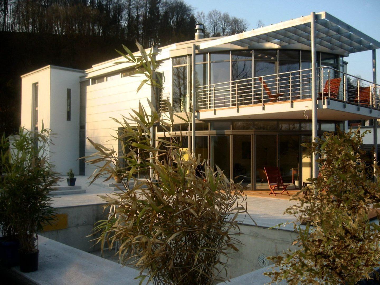 villa am rhein hhp architekten. Black Bedroom Furniture Sets. Home Design Ideas